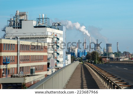 Image showing green issues of global pollution - stock photo