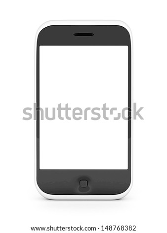 Image smartphone isolated on a white background