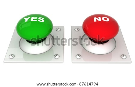image the red button on a white background - stock photo