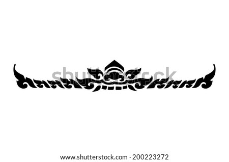 Images artistic of line thai on white background - stock photo