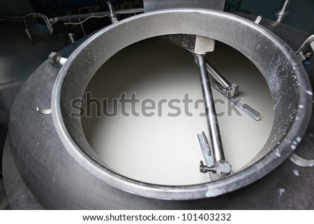 Images from an italian cheese factory producing mozzarella, provola, provolone, ricotta.