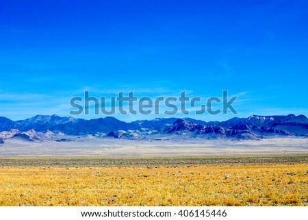 Images of extraterrestrial highway desert road in nevada - stock photo