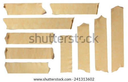 Images of Ripped Masking Tape isolated on white - stock photo