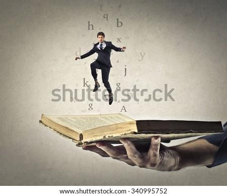Imaginary businessman - stock photo
