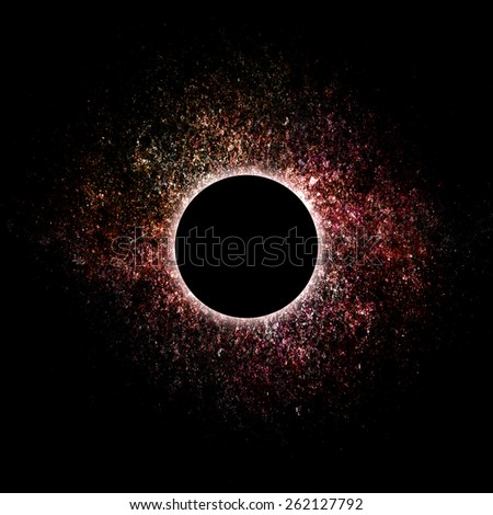 imaginary eclipse - stock photo