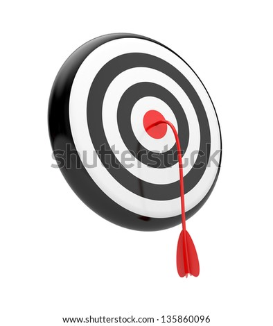Imaginary fortune. Target with arrow