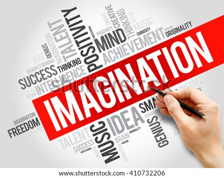 Imagination word cloud, business concept - stock photo