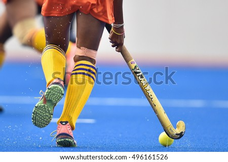 Imesha Weerabahu of Sri Lanka in action during The 4th Women's AHF Cup 2016 between Sri Lanka and Indonesia at Queen Sirikit Sports Stadium on October 02,2016 in Pathum Thani Thailand.