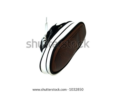 Imitation  gym shoes - stock photo