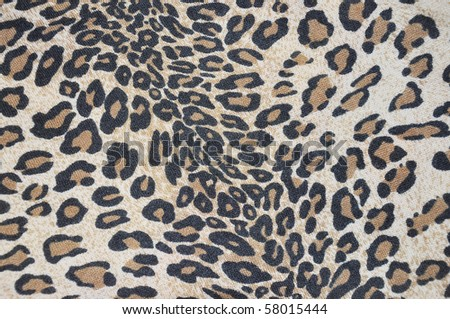 imitation of tiger fabric 2 - stock photo
