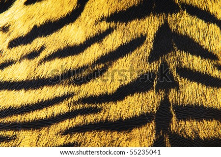 Imitation of tiger leather as a background - stock photo
