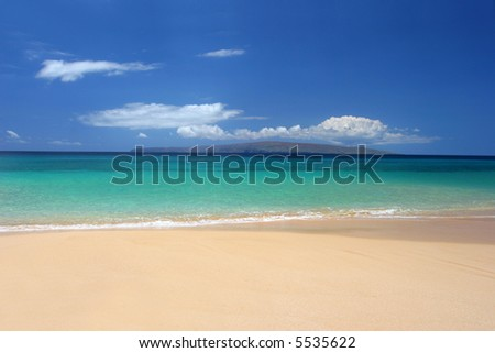 Immaculate beach in Maui - stock photo