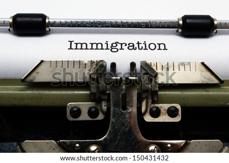 Immigration - stock photo