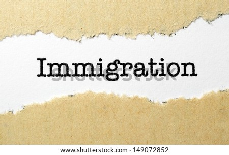 Immigration concept - stock photo