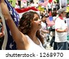 Immigration Protest, Los Angeles, May 1, 2006 - stock photo