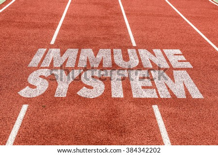 Immune System written on running track