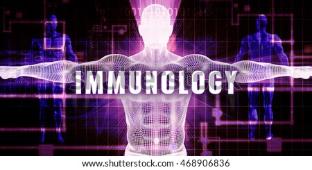 Immunology as a Digital Technology Medical Concept Art 3d Illustration Render