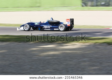 Imola, Italy - October 11, 2014: Dallara F312 -?? Mercedes R of Eurointernational Team, driven by Sette Camara Sergio (Bra) in action during the Fia Formula 3 European Championship