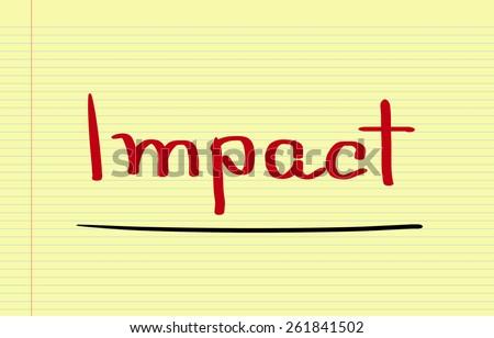Impact Concept - stock photo