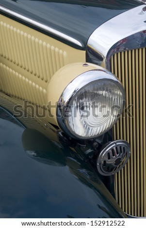 IMPERIA, ITALY � MAY 25: Close up detail of a Audi UW 220 cruising on the road in Imperia, Italy on May 25, 2012. - stock photo