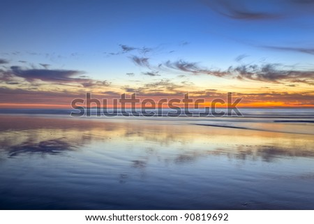 Imperial Beach After Sunset - stock photo