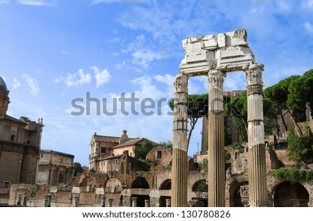 Imperial Forum at Rome. Italy