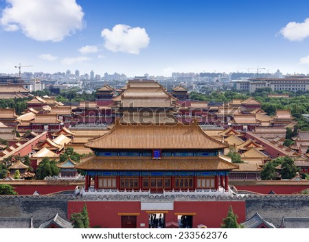 imperial Palace in Beijing, China - stock photo