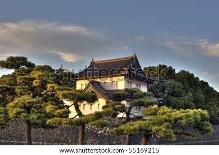 Imperial Palace in Japan, Tokyo - stock photo