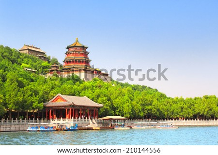 Imperial Summer Palace in Beijing, China - stock photo