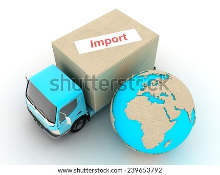 Import - stock photo