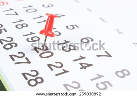 Important date - stock photo