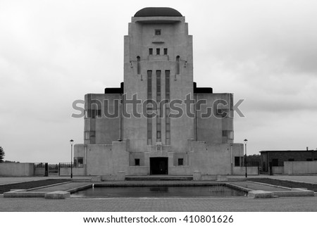 Imposant mysteries Sfinx Like Building (Radio Kootwijk): the former radio broadcasting station which was built in the ninety twenties for radio telegraphic contact with the overseas Dutch East Indies.