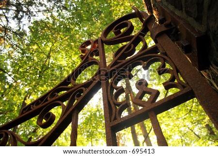 Imposing Gate - stock photo