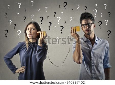 Impossible communication - stock photo
