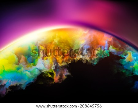 Impossible Dawn series. Arrangement of colors and gradients on the subject of art, creativity, imagination and design - stock photo