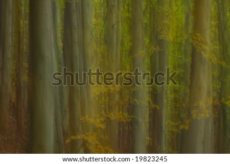Impressionism forest - stock photo