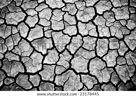 Impressive cracked earth - stock photo