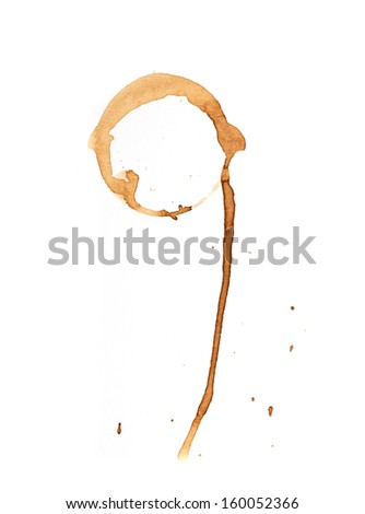 imprint of coffee on a white background