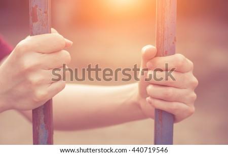 Imprison concept,Jail concept. - stock photo