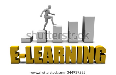 Improve Your E-learning  or Business Process as Concept - stock photo