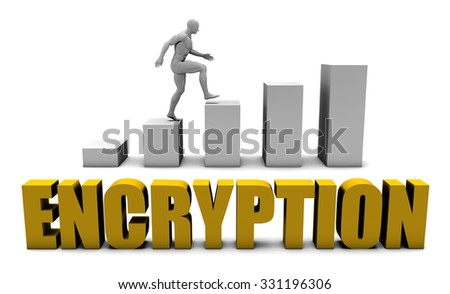 Improve Your Encryption  or Business Process as Concept - stock photo