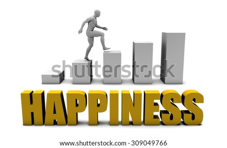 Improve Your Happiness  or Business Process as Concept - stock photo