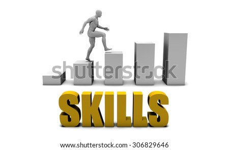Improve Your Skills  or Business Process as Concept - stock photo