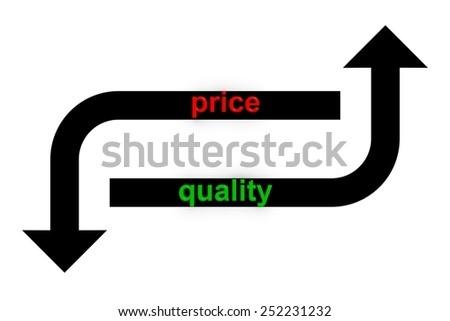improved quality reduced cost - stock photo