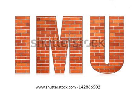 IMU italian municipal tax on buildings - stock photo