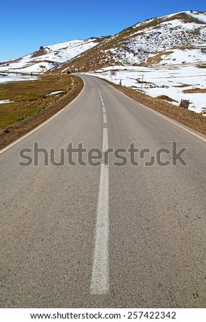 in     africa morocco the atlas dry mountain ground isolated hill valley - stock photo