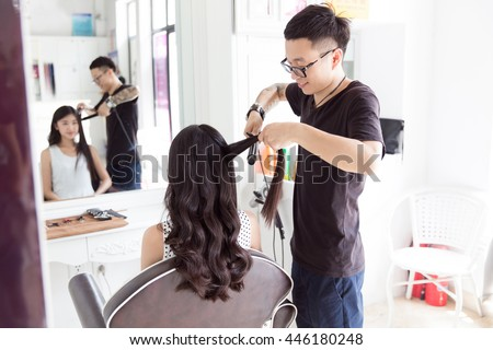 in beauty salons clubs and professional hair stylist to the girl in hair design - Professional Hair Stylist