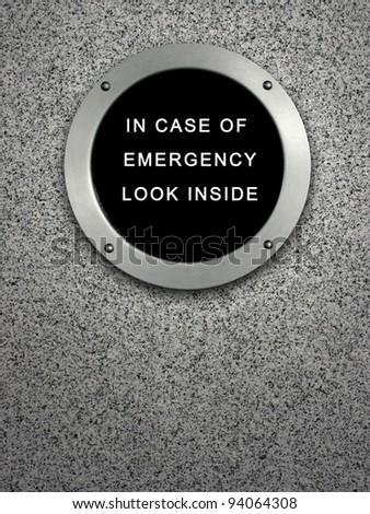 in case of emergency - stock photo