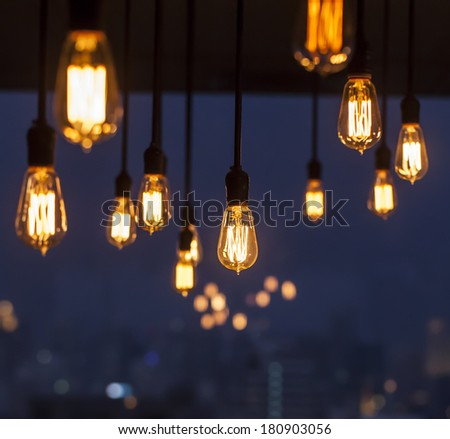 in dark - stock photo
