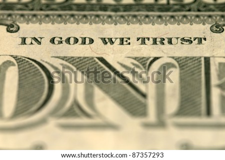 In God we trust - banknote one dollar - stock photo